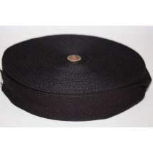 "Polyester Webbing 1"" (25MM) - Black - Roll Price"