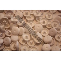 Cover Buttons - White Plastic 15mm