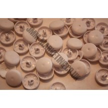 Cover Buttons - White Plastic 19mm