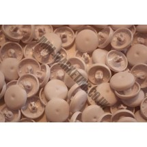 Cover Buttons - White Plastic 22mm - 100 Box