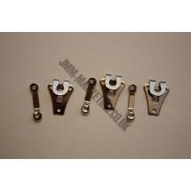 Hooks and Bars - 3 Pairs - Nickel