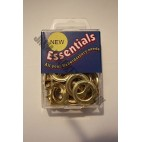 Essential Eyelets - 11mm - Brass