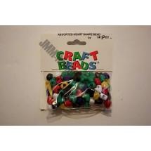 Plastic Heart Shaped Beads - 10mm