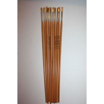 Nylon Brushes Round Fitches - Size 4 - Pack of 10