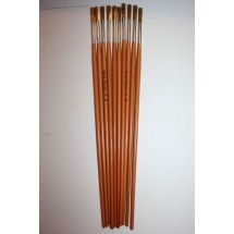 Nylon Brushes Round Fitches - Size 8 - Pack of 10
