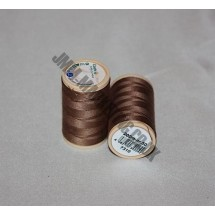 Coats Coloured 100 % Cotton Thread - Brown