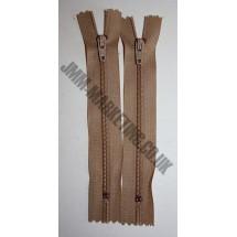 """Nylon Zips 4"""" (10cm) - Beige"""