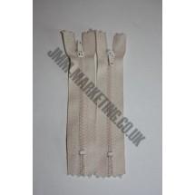 """Nylon Zips 4"""" (10cm) - Cream"""