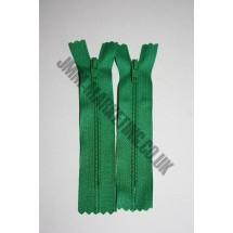 "Nylon Zips 4"" (10cm) - Emerald"