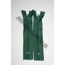 """Nylon Zips 4"""" (10cm) - Bottle Green"""