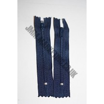 """Nylon Zips 4"""" (10cm)- Navy"""
