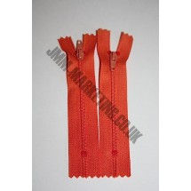 """Nylon Zips 4"""" (10cm) - Orange"""