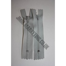 "Nylon Zips 4"" (10cm) - Light Grey"