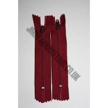 """Nylon Zips 4"""" (10cm) - Burgundy"""