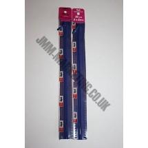"Optilon Concealed Zips 8"" (20cm)  - Royal Blue"