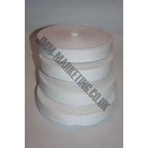 "Cotton Tape 25mm (1"") - White"