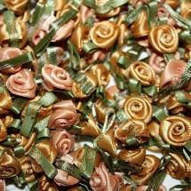Ribbon Roses - Small - Old Gold