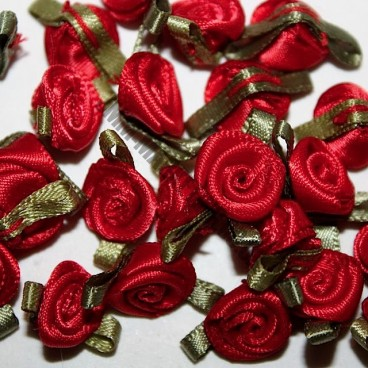 Ribbon Roses - Small - Red