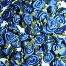 Ribbon Roses - Small - Deep Blue