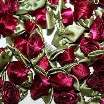 Ribbon Roses - Large - Burgundy