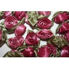 Ribbon Roses - Large - Pale Burgundy