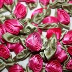 Ribbon Roses - Large - Cerise