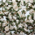 Ribbon Roses - Large - Cream