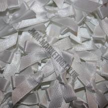 Small Ribbon Bow - White