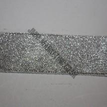 "Lurex Ribbon 12mm (1/2"") - Silver - Roll Price"