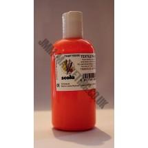 Scolart Fluorescent Fabric Paint 150ml - Orange