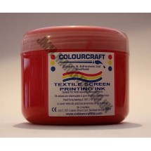 Colourcraft Screen Printing Ink 500ml - Red