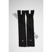 "Nylon Zips 8"" (20cm) - Black"