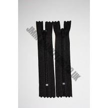 "Nylon Zips 12"" (30cm) - Black"