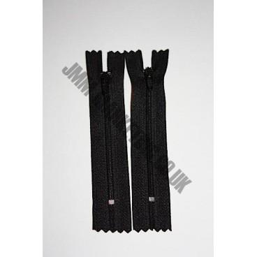 "Nylon Zips 20"" (51cm) - Black"
