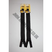 "Optilon Concealed Zips 22"" (56cm) - Black"