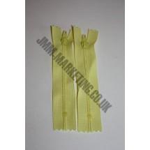"""Nylon Zips 6"""" (15cm)- Lemon"""