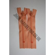 """Nylon Zips 6"""" (15cm)- Peach"""
