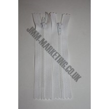 "Nylon Zips 7"" (18cm) - White"