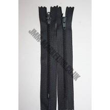 """Nylon Zips 7"""" (18cm)- Dark Grey"""