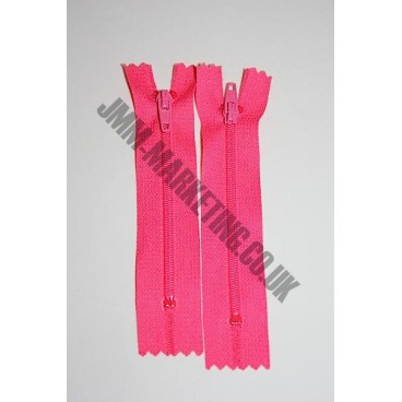"Nylon Zips 8"" (20cm) - Cerise"