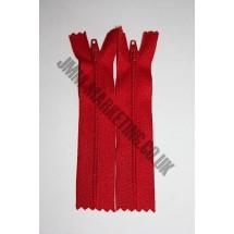 """Nylon Zips 9"""" (23cm) - Red."""