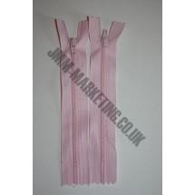 """Nylon Zips 10"""" (26cm) - Light Pink"""