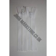 "Nylon Zips 12"" (30cm) - White"