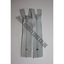"Nylon Zips 12"" (30cm) - Light Grey"