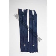 """Nylon Zips 16"""" (41cm) - Navy"""