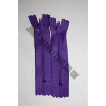 """Nylon Zips 16"""" (41cm) - Purple"""