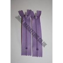 "Nylon Zips 16"" (41cm) - Lilac"