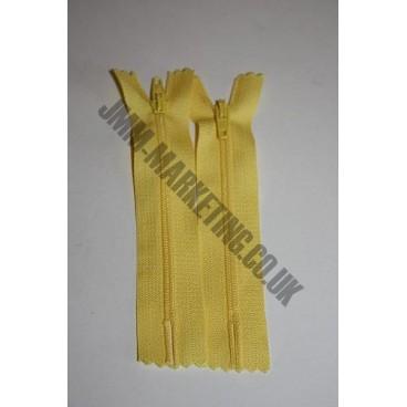 """Nylon Zips 16"""" (41cm) - Yellow"""