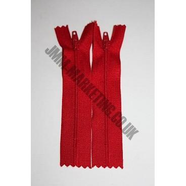 """Nylon Zips 20"""" (51cm) - Red"""