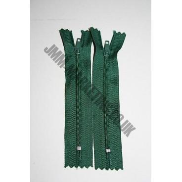 """Nylon Zips 20"""" (51cm)- Bottle Green"""